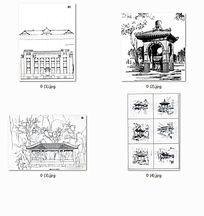 白描中国古代建筑