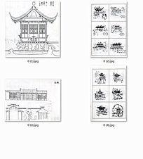 白描中式古建筑 JPG