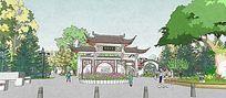 茶亭公园主入口