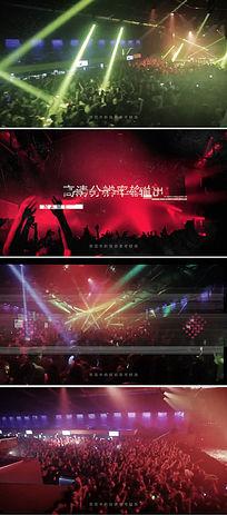 dj夜场音乐会演出视频宣传ae模板