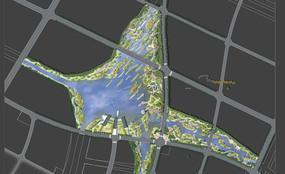高清湿地公园PSD总平面图