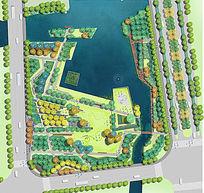 公园景观PSD彩色平面素材分层