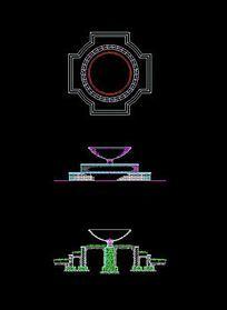 花坛花钵结构图 CAD