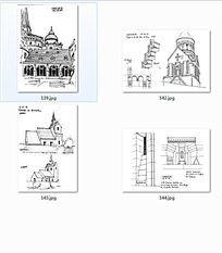 欧式风格建筑手绘图