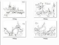 欧式建筑手绘景观透视