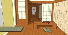 日式茶室室内SU模型