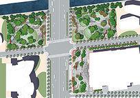 商业办公街头公园总平面图
