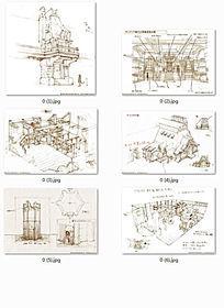 手绘卡通建筑