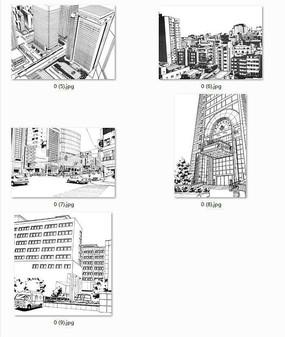 中式建筑彩色手绘 下载收藏 现代建筑效果手绘 下载收藏 校园大门入口