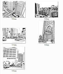 现代建筑效果手绘 JPG