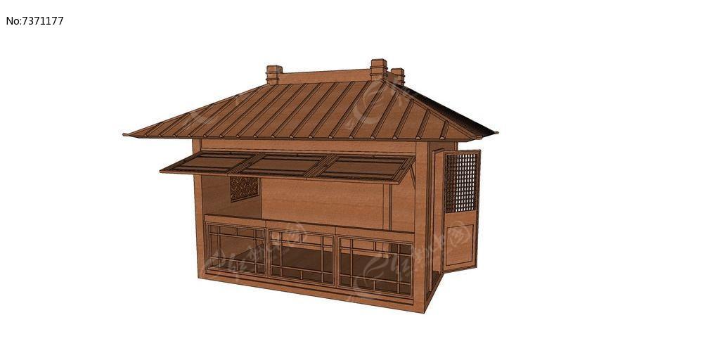 中式公园景观木屋图片