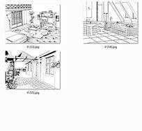 住宅手绘线稿
