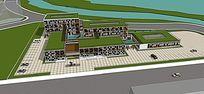 城市多元素博物馆模型