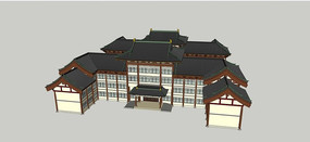 高层古建博物馆模型