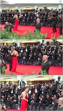国际电影节明星走红地毯实拍视频素材