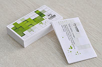 绿色色块广告名片 PSD