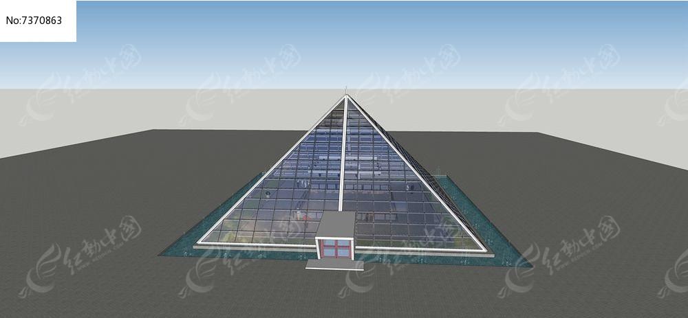 三角锥钢结构博物馆模型图片