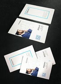时尚竖版商务名片