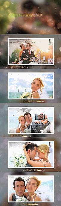 水墨唯美浪漫婚礼相册视频会声会影模板