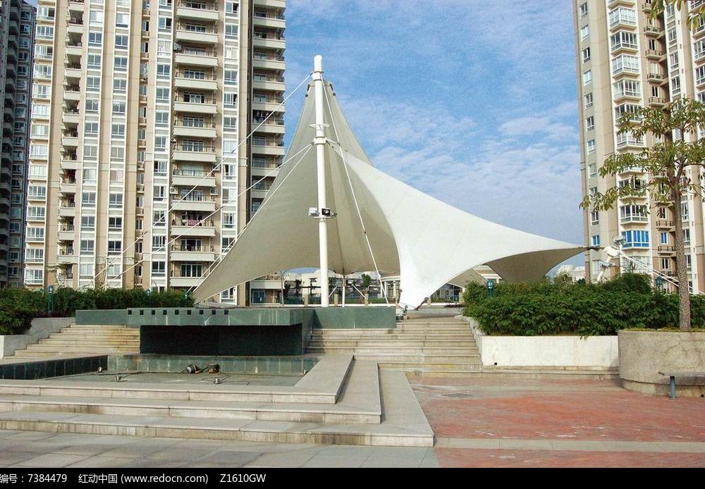 现代钢结构廊架图片