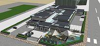 中式传统博物馆模型