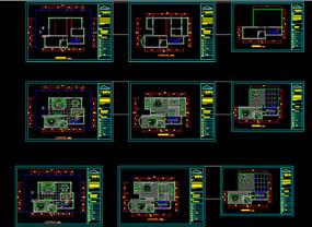 别墅欧式风格室内家装cad设计平面图