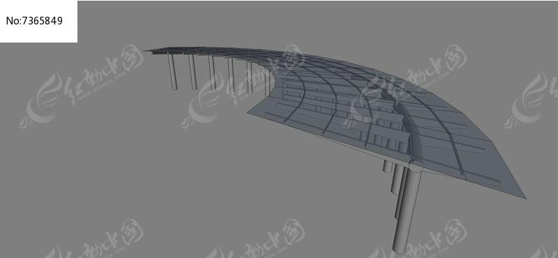 钢结构玻璃花架模型图片