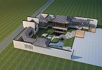 古典私家庭院景观模型