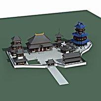 古建私家园林模型