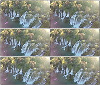 航拍壮观大瀑布4K视频