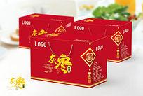 红色大气灰枣盒包装