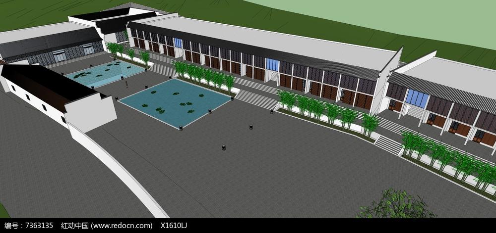 原创设计稿 3d模型库 建筑 山地旅馆图片