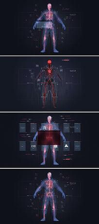 ae高科技人体扫描栏目包装模板