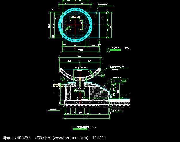 简易圆形花池施工图图片