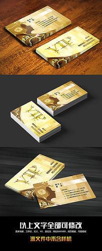金色VIP贵宾卡名片设计