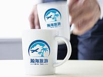 蓝色飞机旅游logo AI