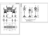 牌楼建筑设计方案图 dwg