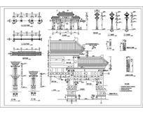 牌楼建筑施工图 dwg