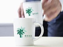 清新小树旅游logo