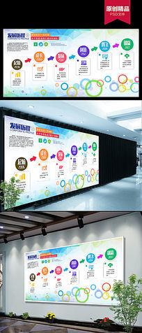 企业发展历程海报背景