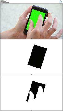 手机绿屏抠像实拍视频素材