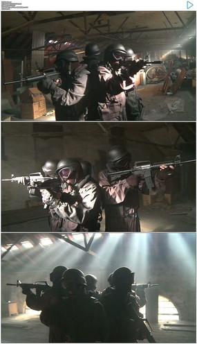 特种部队360度突击实拍视频素材 mov