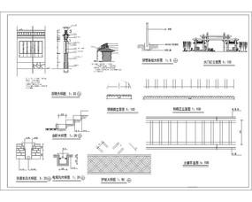 围墙、牌坊大门施工图