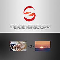 字母S双手太阳logo