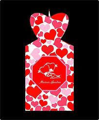 红心甜美糖盒设计