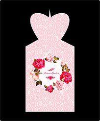 浪漫玫瑰喜糖盒设计
