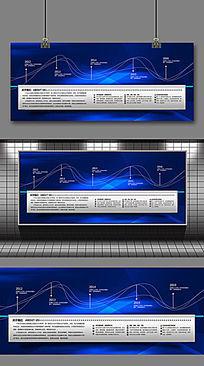 蓝色大气企业发展历程形象墙设计