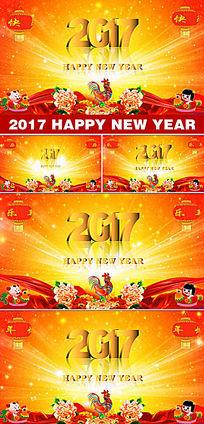 2017鸡年视频素材2017鸡年春晚背景