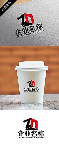 ZM字企业logo创意设计