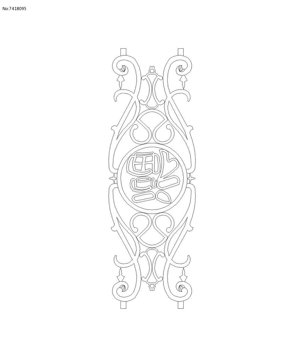 福字花纹栏杆图片图片